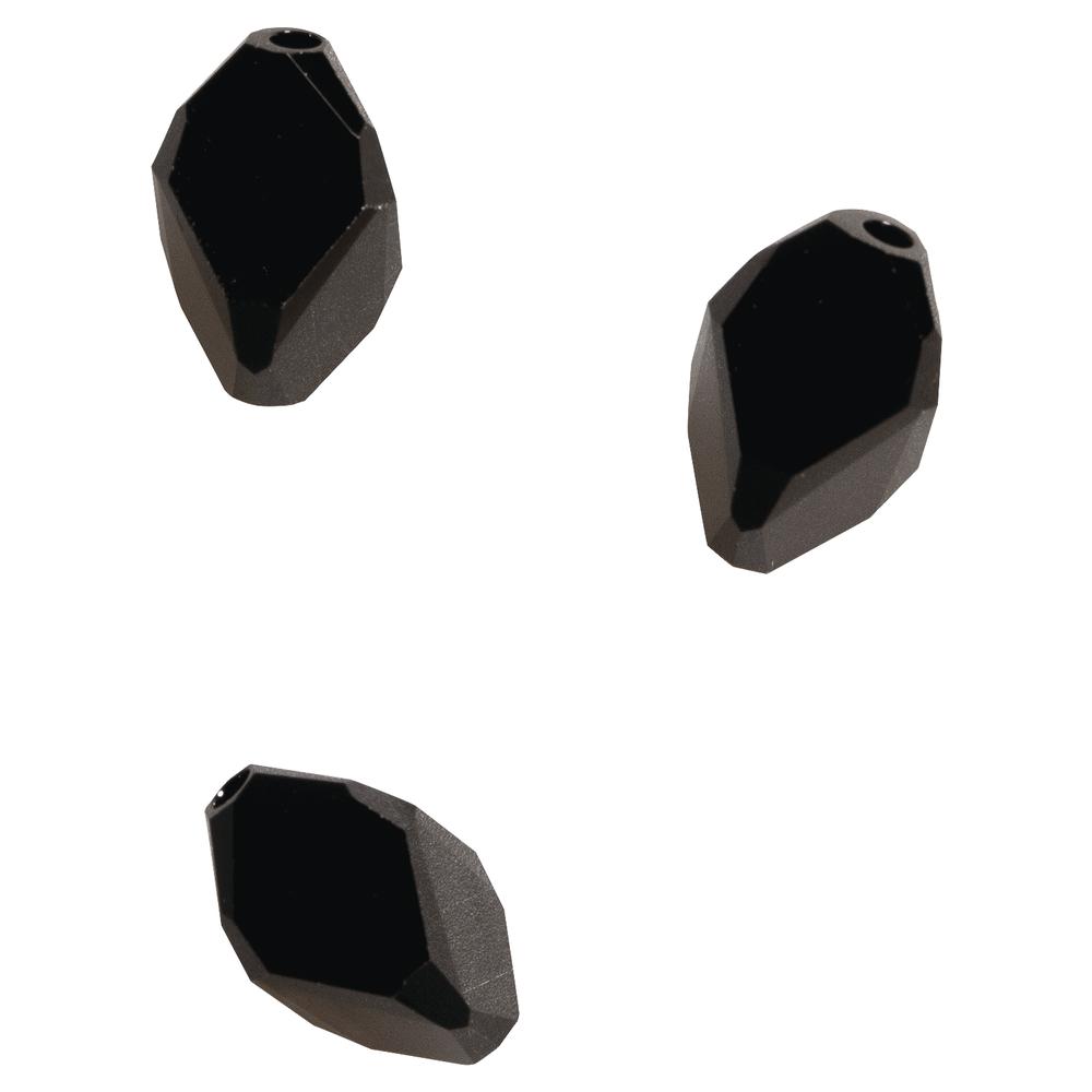 Swarovski Kristall-Cubist-Perle, 12x8mm, SB-Btl 3Stück, ebenholz