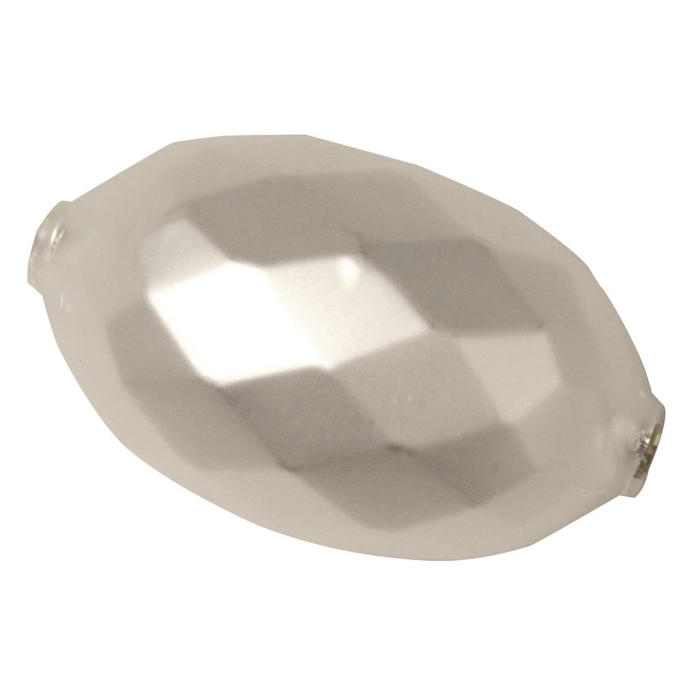 Glas-Oliven, matt, 36x22 mm, facettiert, Dose 1 Stück
