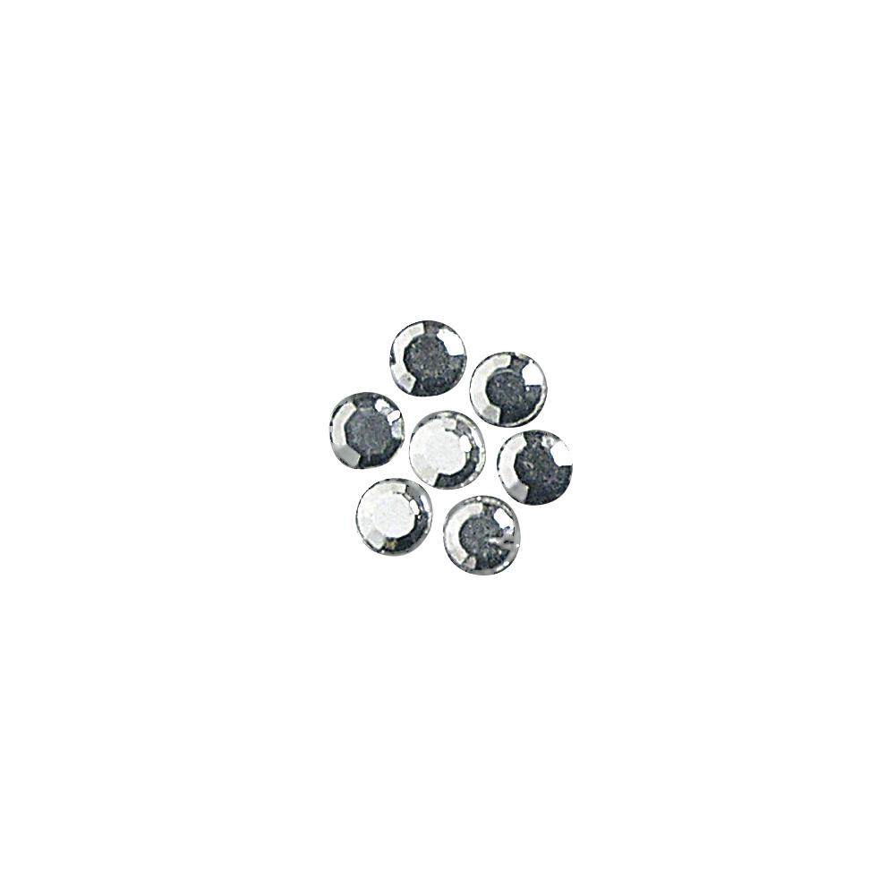 Glas-Strasssteine, zum Aufbügeln, 3 mm ø, 45 Stück, kristall