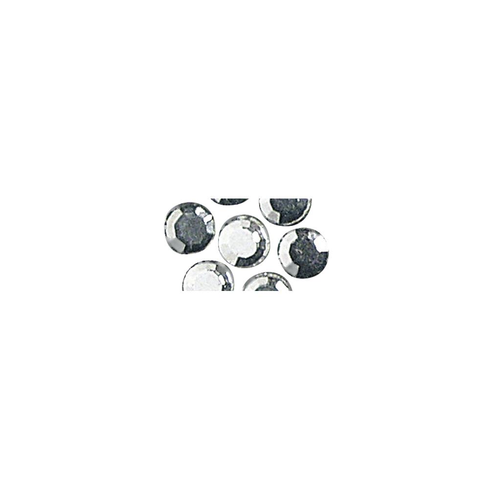 Glas-Strasssteine, zum Aufbügeln, 5 mm ø, SB-Btl. 45 St., kristall