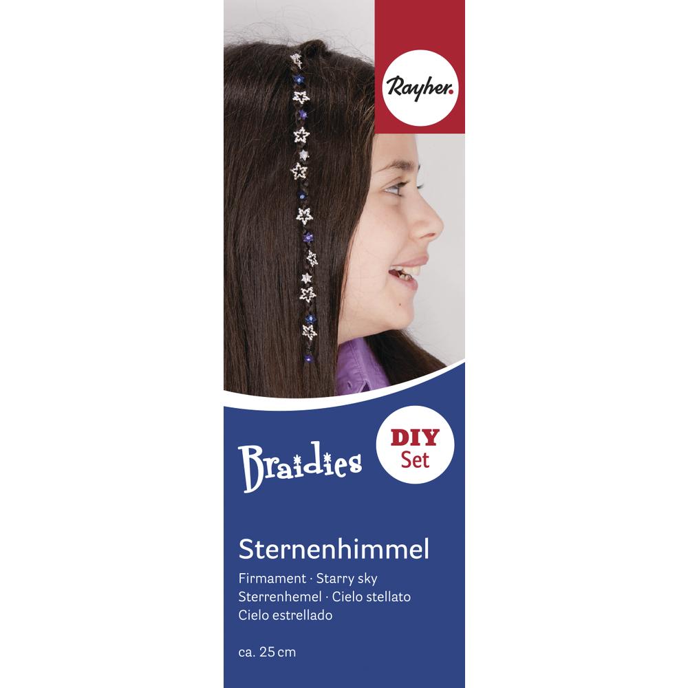 Braidy Haarschmuck-Set Sternenhimmel, Set 48 Teile, Länge ca. 25 cm
