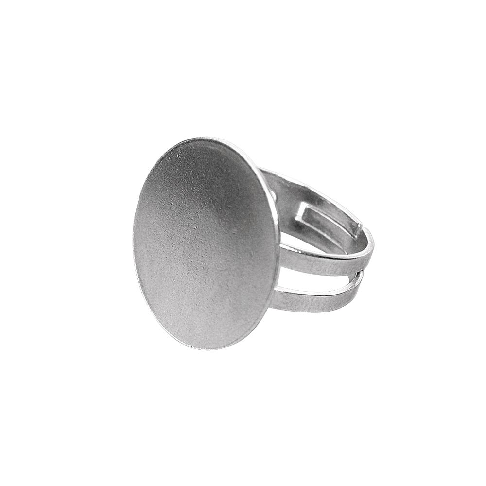 Ringschiene m. Platte, 20mm ø, SB-Btl 1Stück, platin