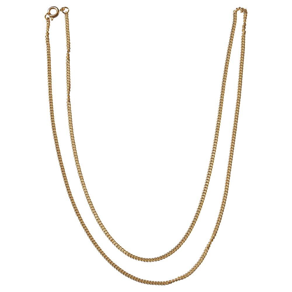 Ankerkette vergoldet 60cm, inkl. Federring, SB-Btl 1Stück, vergoldet