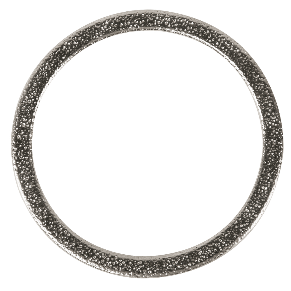 Metall- Schmuckring flach, 50mm ø, gehämmert, SB-Btl 1Stück, silber