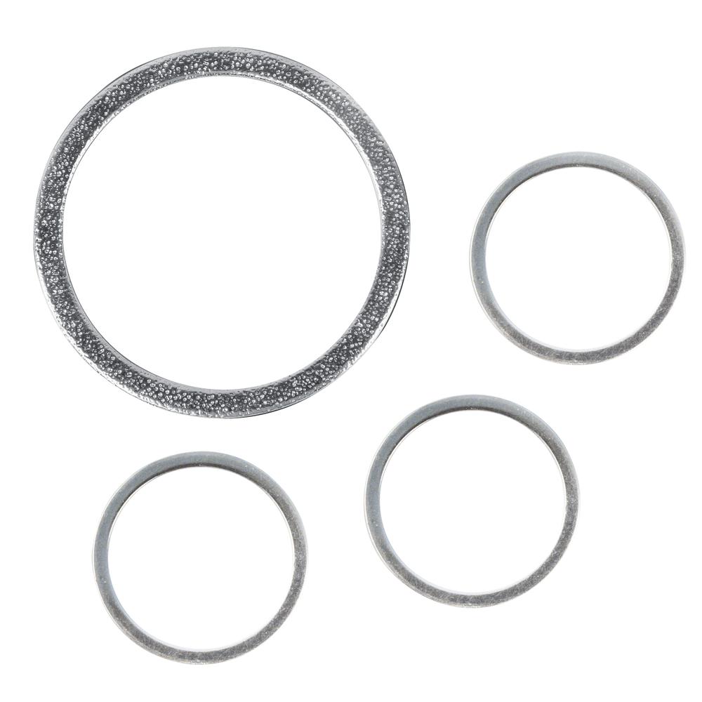 Set Metall-Schmuckring flach, 1xø37mm+3xø15mm, SB-Btl 4Stück, silber