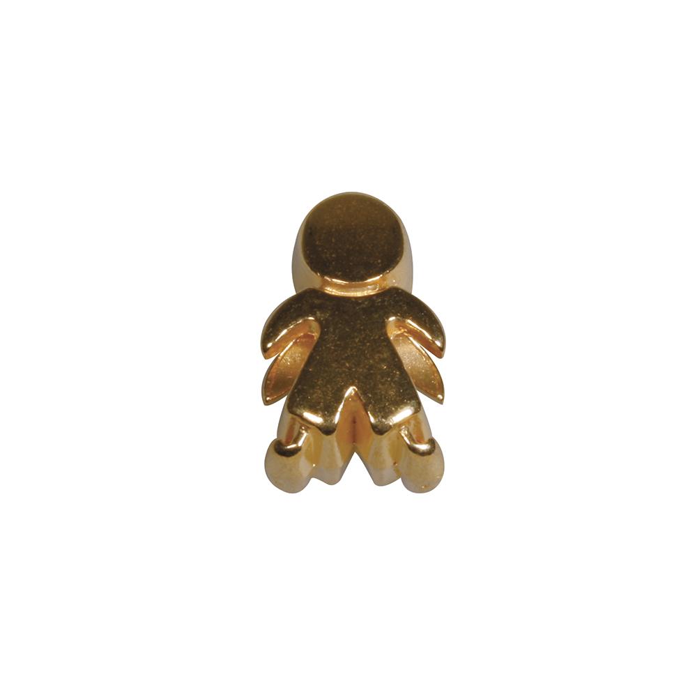 Metall- Perle: Männchen, 0,7x1,3cm, Großloch 5mm ø