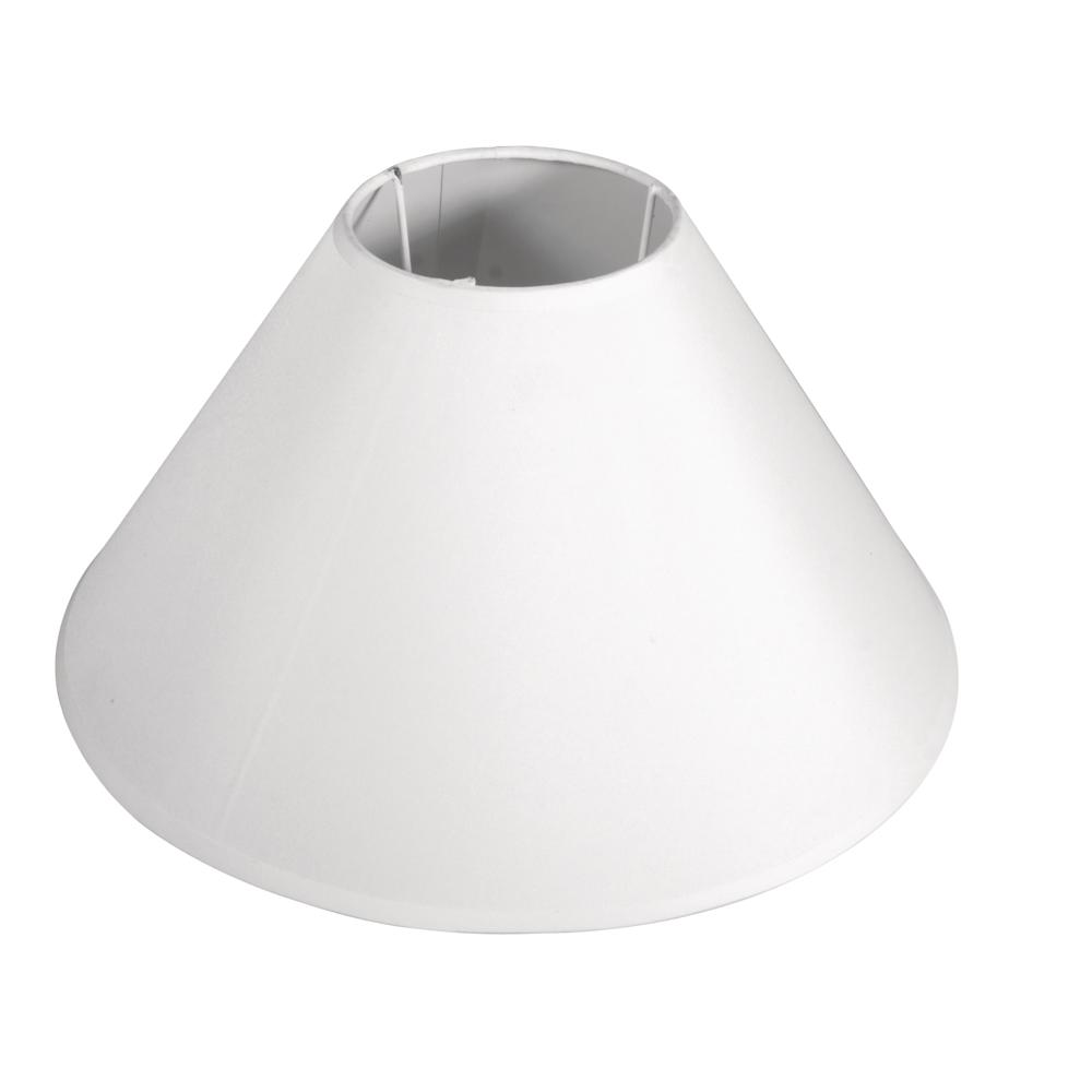 Lampenschirm, rund, konisch, 30 cm ø unten, 10 cm ø oben, H.: 19 cm, weiß
