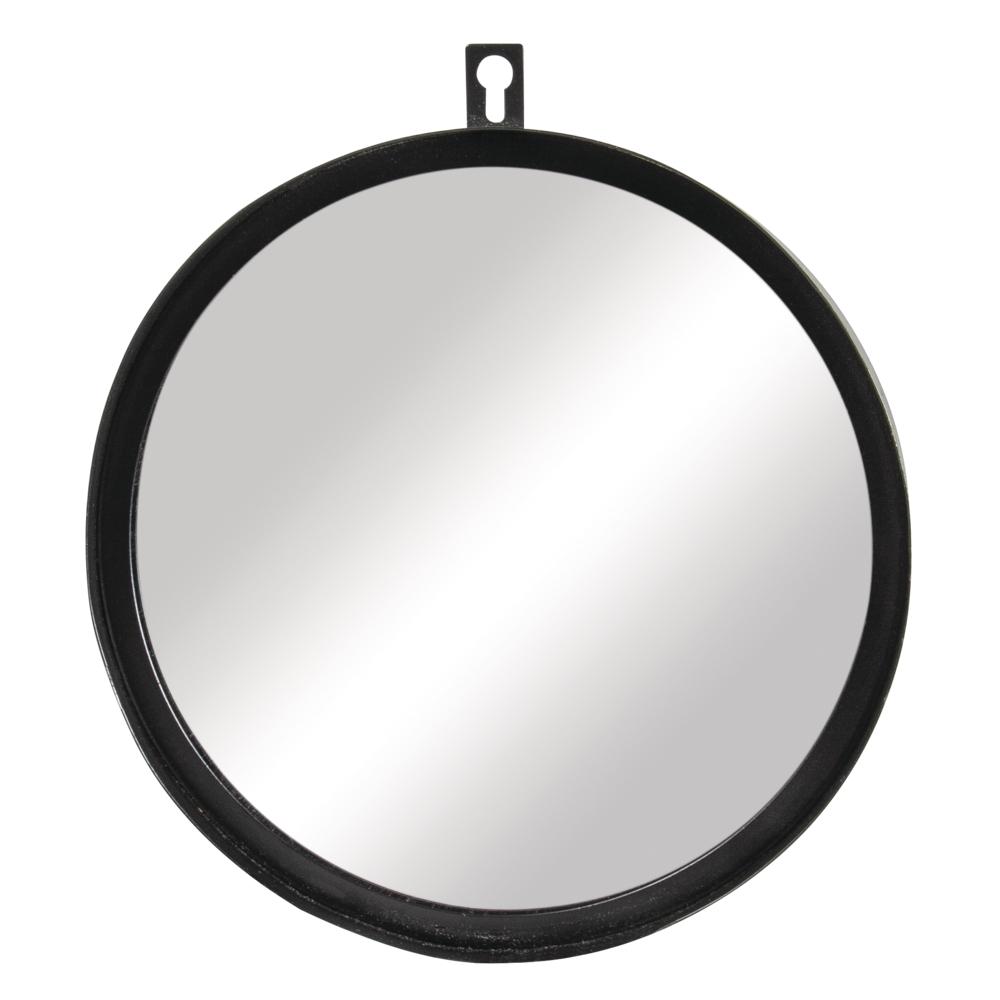 Metall Spiegel, 18cm ø, 3cm, schwarz