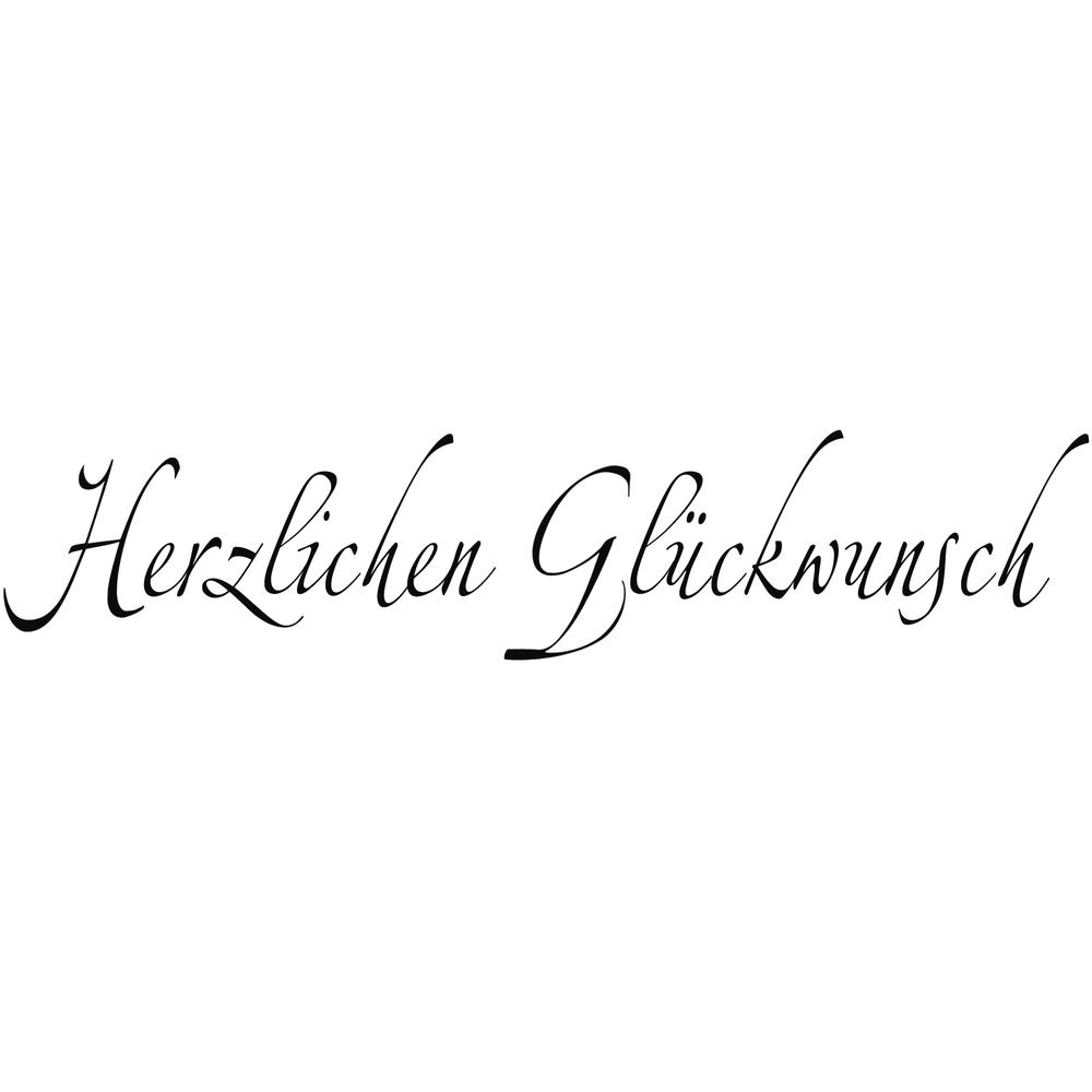 H.- Stempel Herzlichen Glückwunsch, 3x9cm, Art.16211