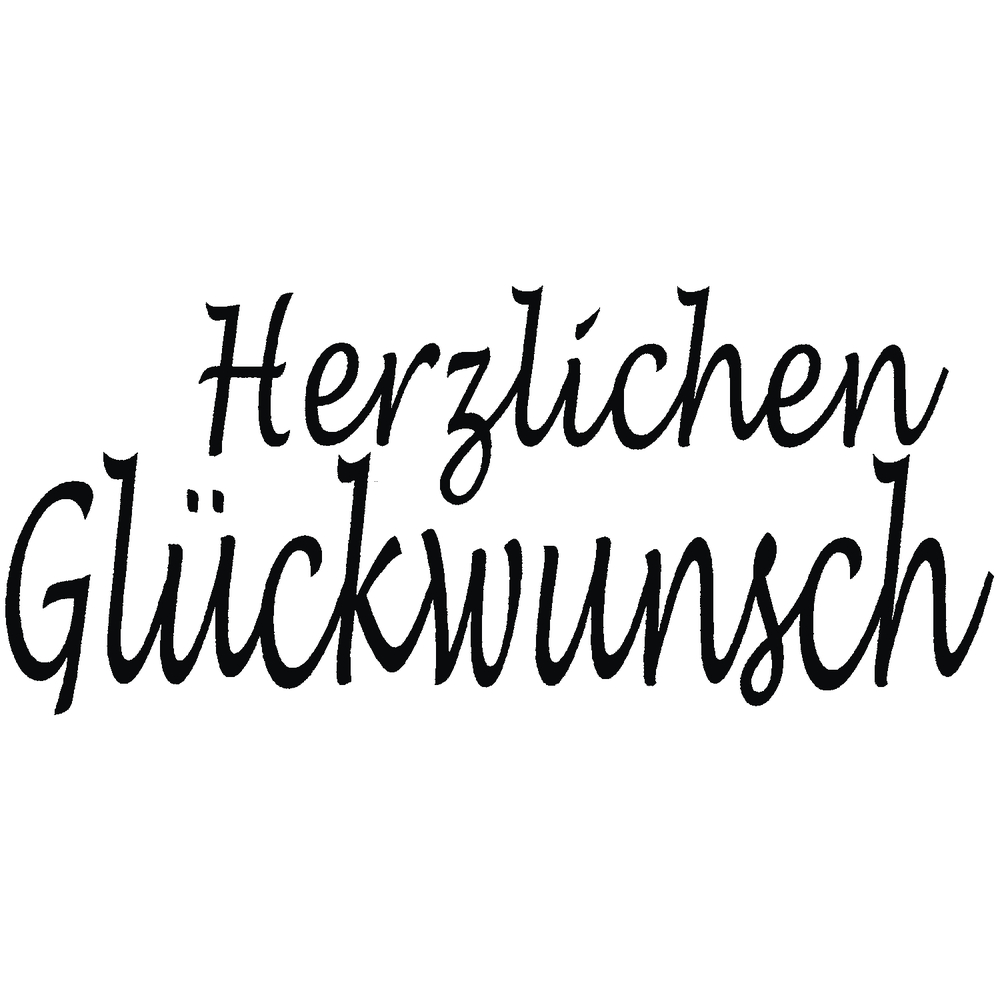 H.- Stempel Herzlichen Glückwunsch, 3x6cm, Art.16901