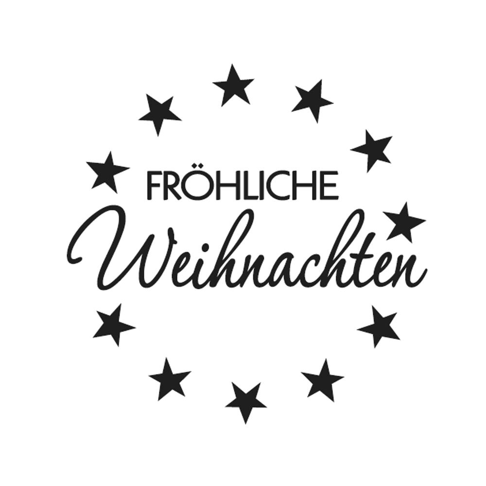 Mini-Holzstempel Fröhliche..., 2cm ø
