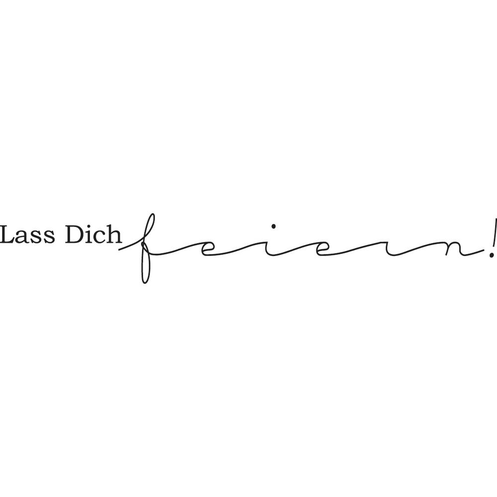 Stempel Lass Dich feiern, 2x10cm