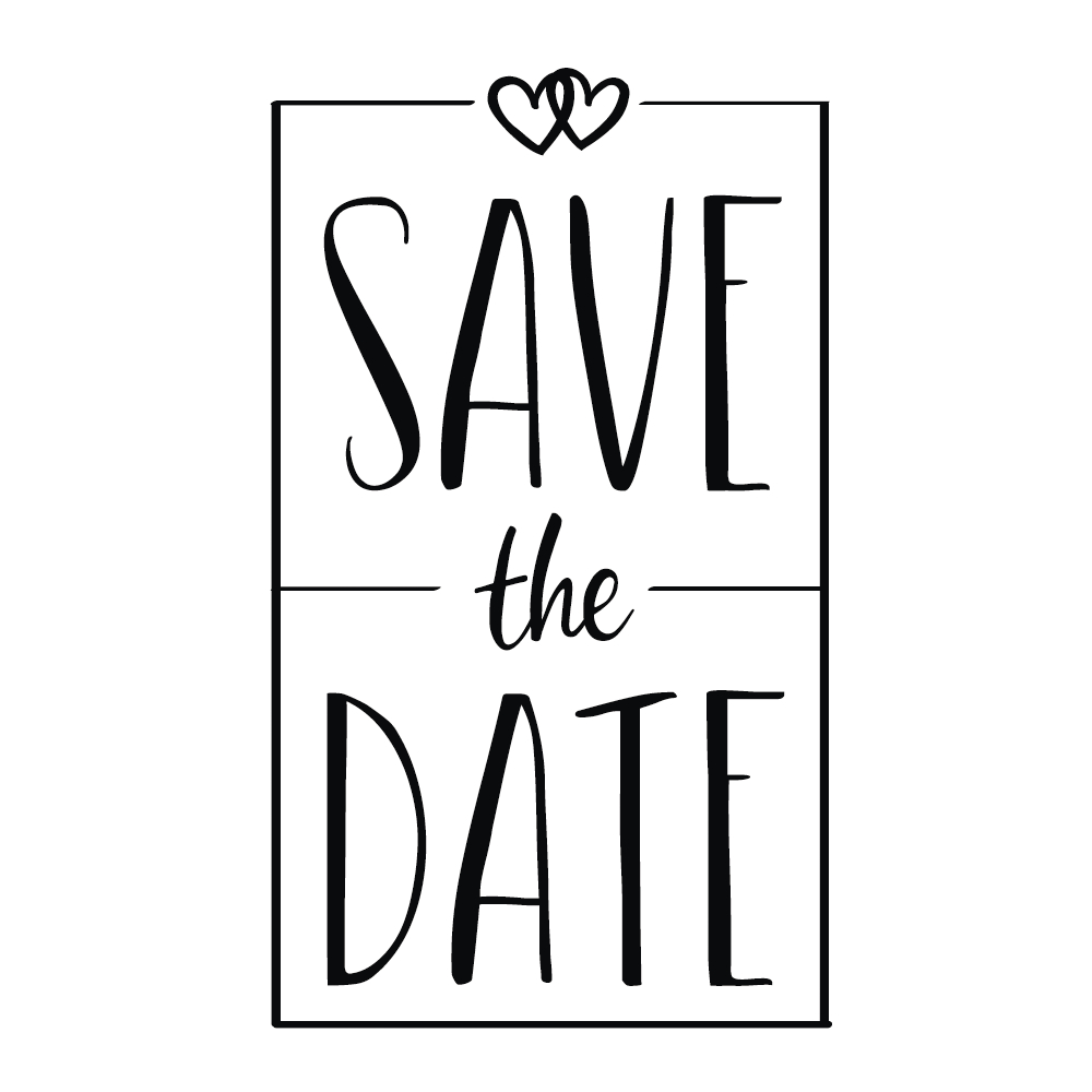 Stempel Save the Date, 5x8cm