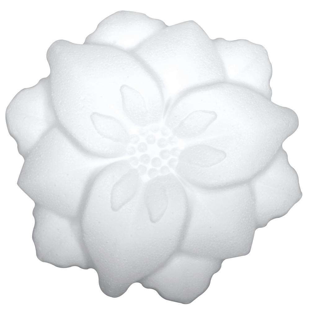 Styropor Blume, 13,5cm, flat