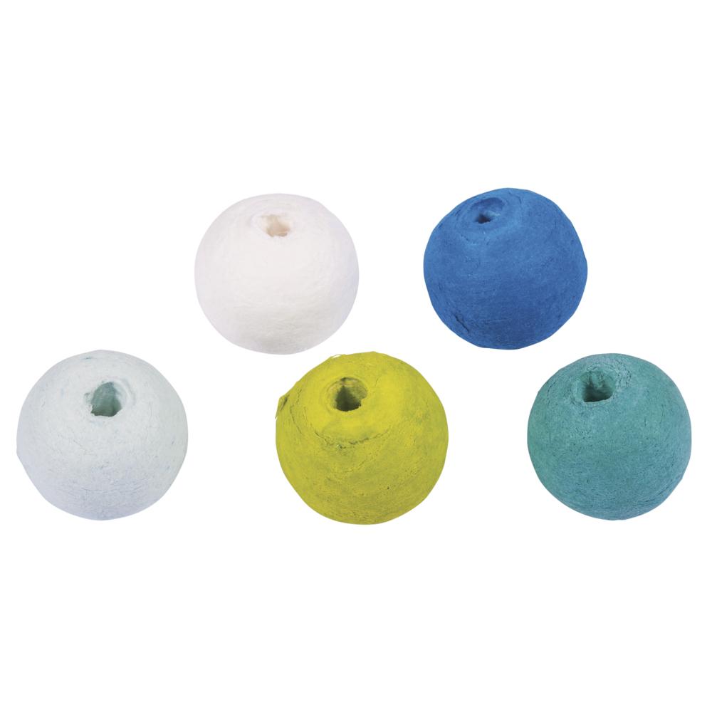 Wattekugeln, 2,2cm ø, farblich sortiert, SB-Btl 25Stück, blau-grün