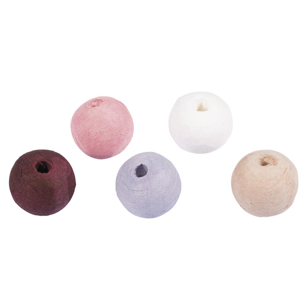 Wattekugeln, 2,2cm ø, farblich sortiert, SB-Btl 25Stück, rosa-lila