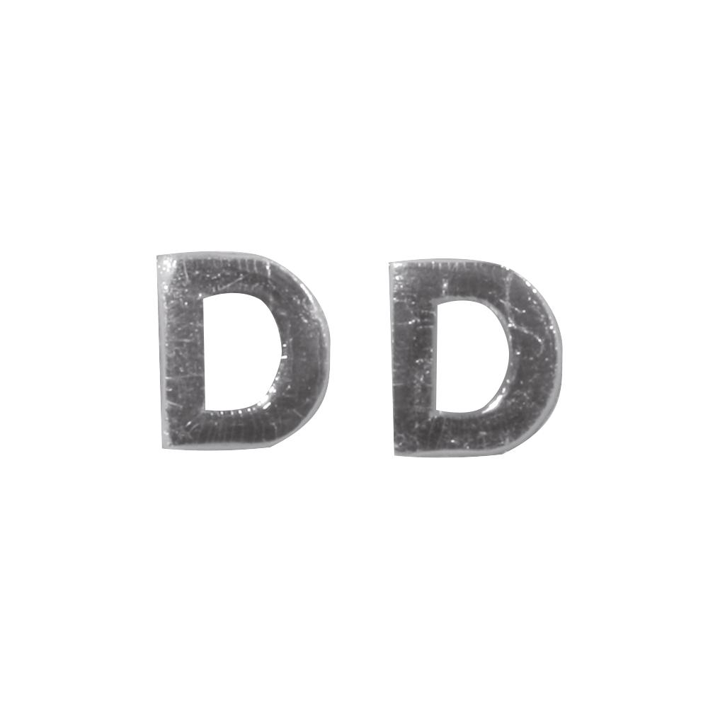 Wachsbuchstaben -D-, 9mm, SB-Btl 2Stück