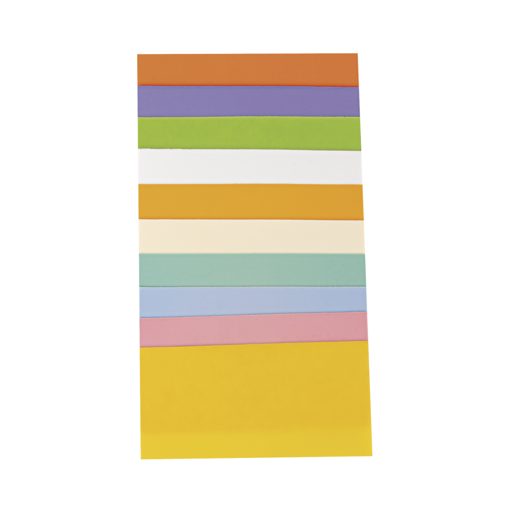 Wachsfolie Pastellset, 10x5cm, 10 Farben sort., SB-Btl 10Stück