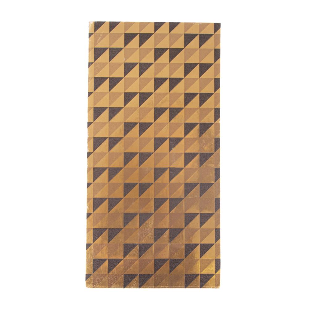 Wachsfolie-Karos, 20x10cm, SB-Btl 1Stück, gold/schwarz