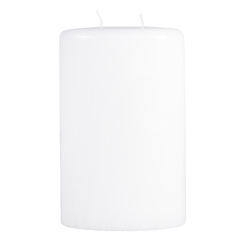 Kerze oval mit 2 Dochten, 13,5x7,5x22cm
