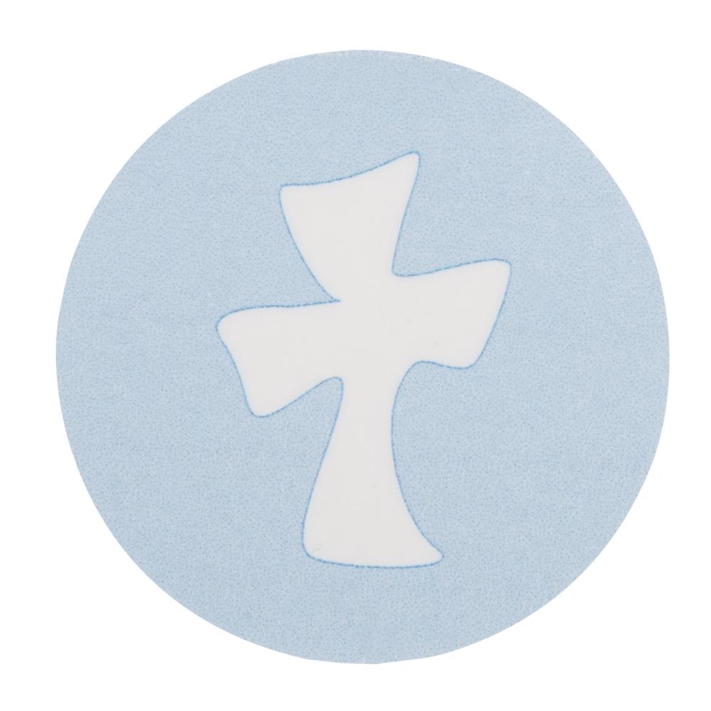 Wachsmotiv: Kreuz, 3,7cm ø, SB-Btl 1Stück