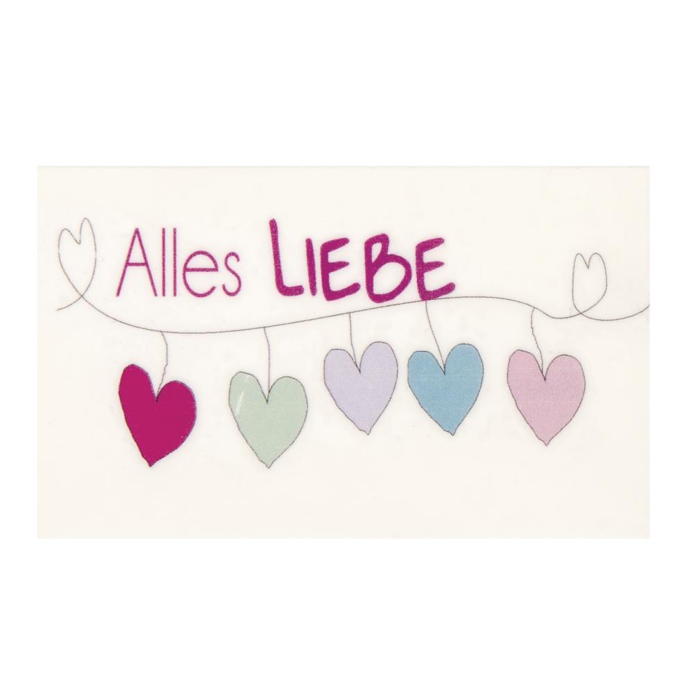 Wachsmotiv: Alles Liebe, 7,5x4,5cm, SB-Btl 1Stück