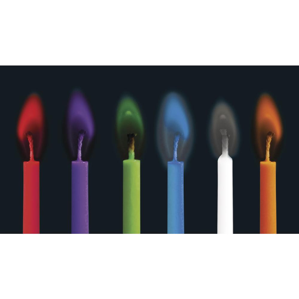 Buntleuchtende Party Kerzen, 5mm ø, 5,5cm, inkl. Halter, SB-Box 12Stück