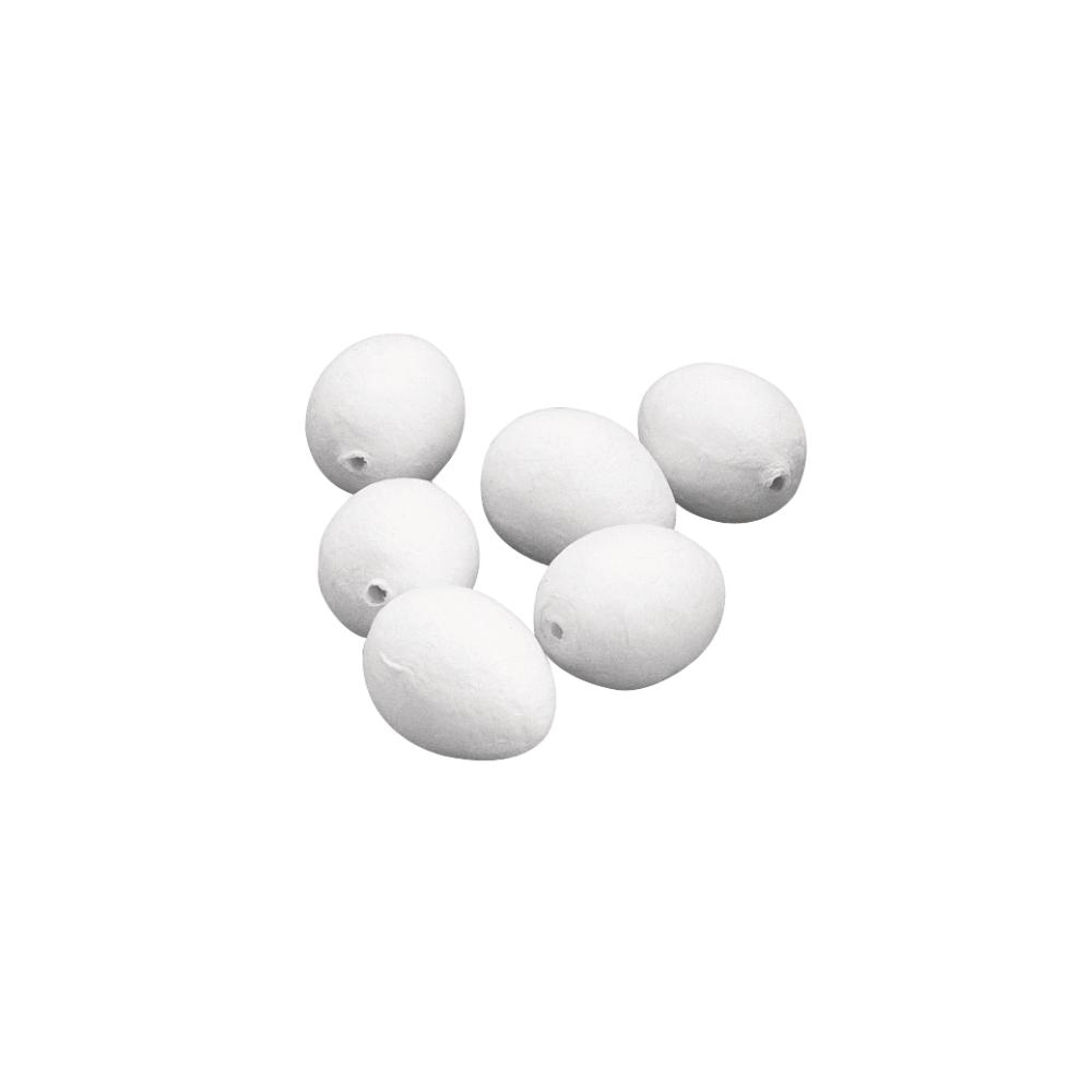 Watteeier, weiß, 29x38 mm, SB-Btl. 10 Stück