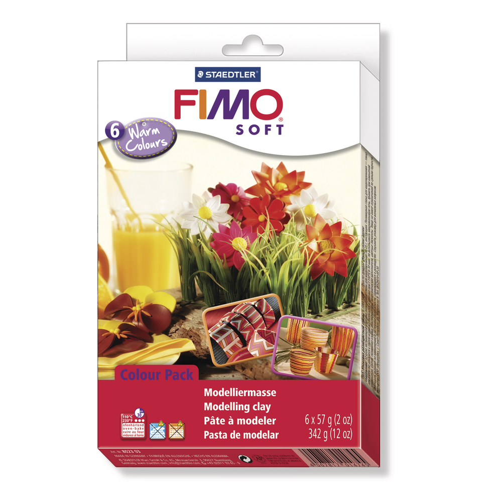 Set: Fimo soft/effect Modelliermassen, Warm Colours, 6x57g, SB-Box