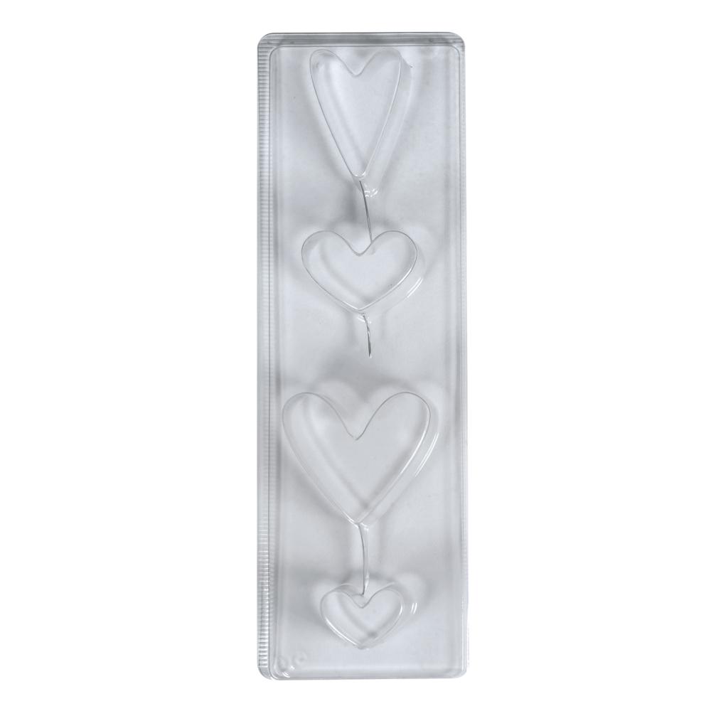 Seifengießform: Herzen, Tiefe 3cm, 4 teilig