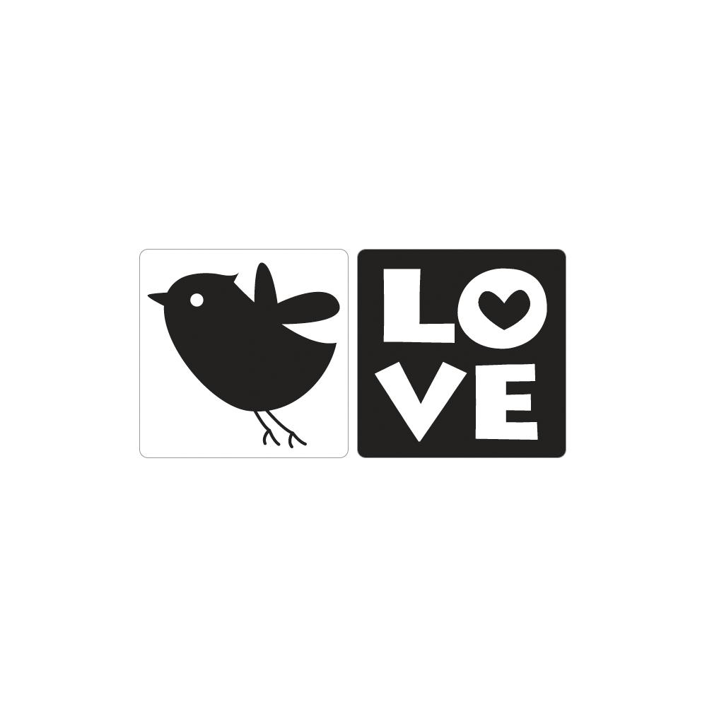 Labels GB Love+Vogel, 25x30mm, SB-Btl 2Stück