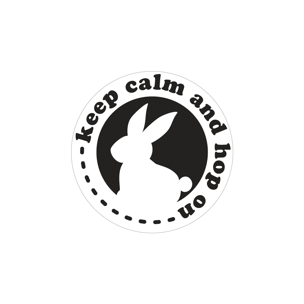 Labels GB keep calm and hop on, 45mm ø, SB-Btl 1Stück