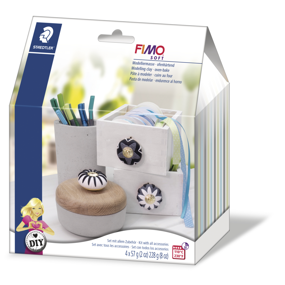Fimo DIY Home Deco Set Knobs, Möbelknauf, SB-Box