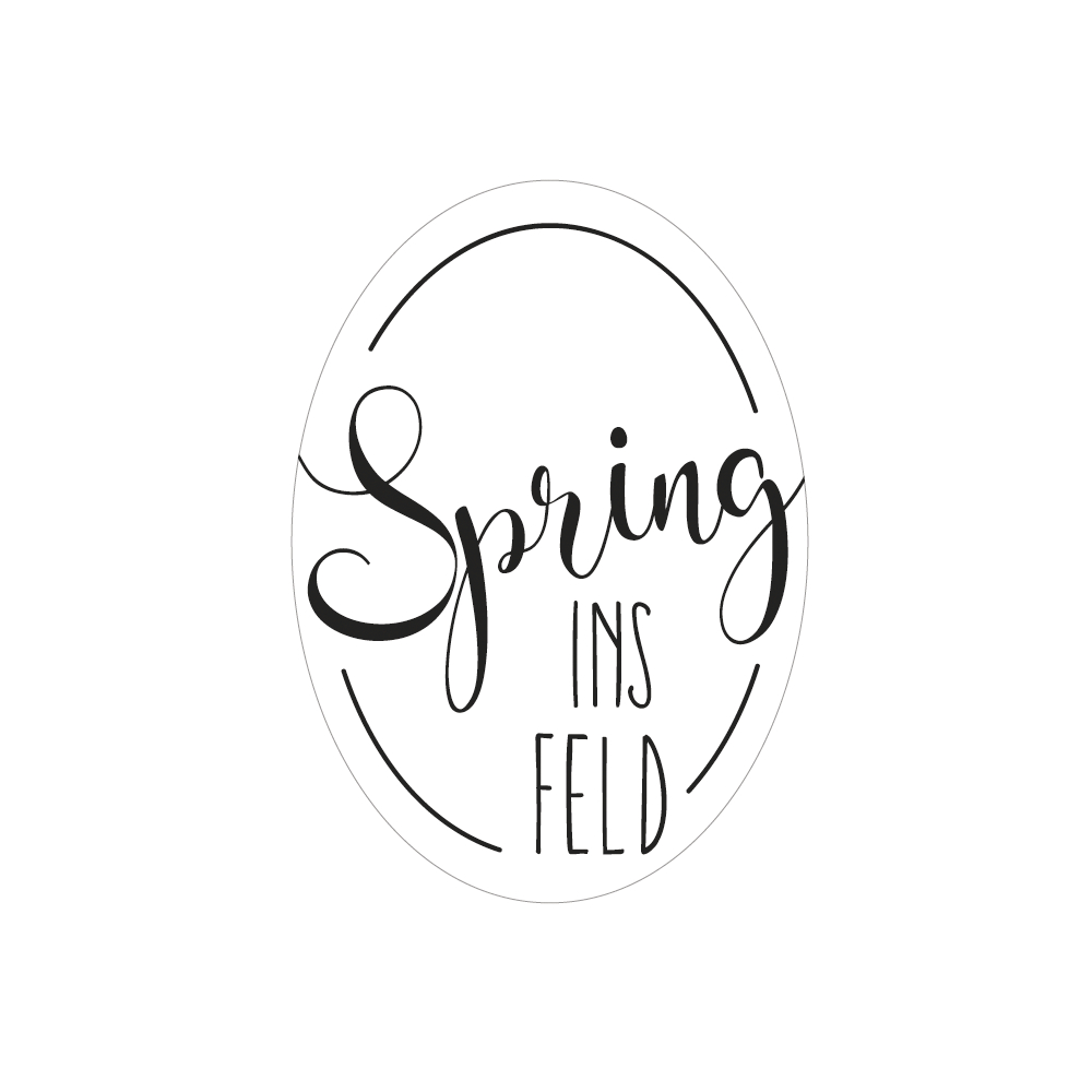 Label Spring ins FELD, 4x5,5cm, SB-Btl 1Stück