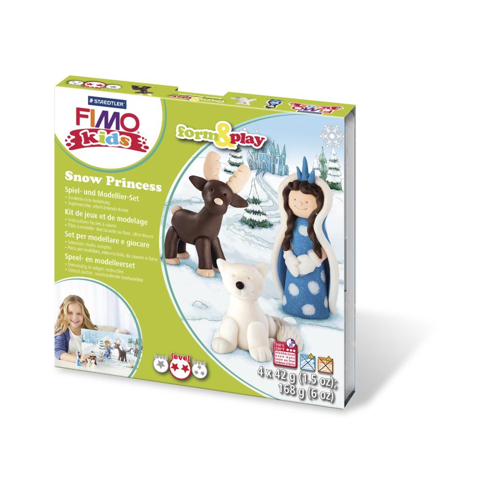 Fimo kids Form&Play Snow Princess, 4 x 42 g, SB-Box