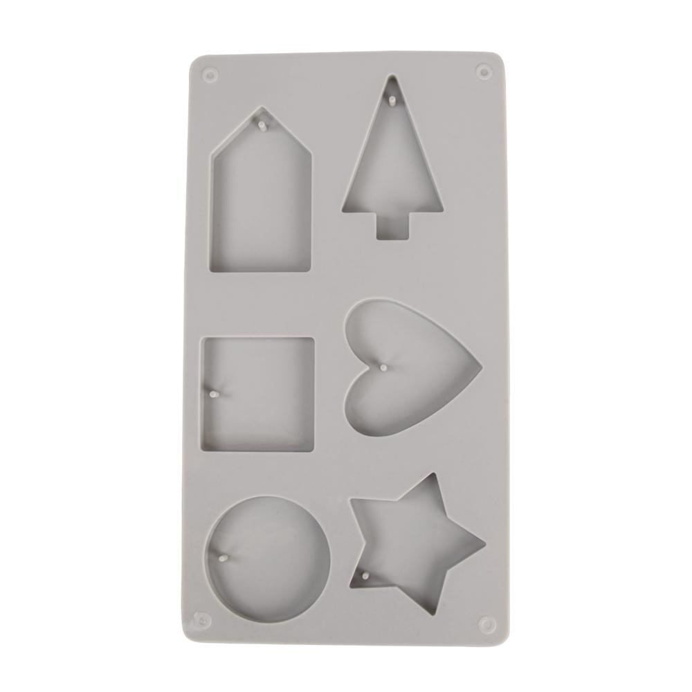 Silikon-Gießform Deko-Formen, 14,5x26x1cm, 6 Formen, Box 1Stück