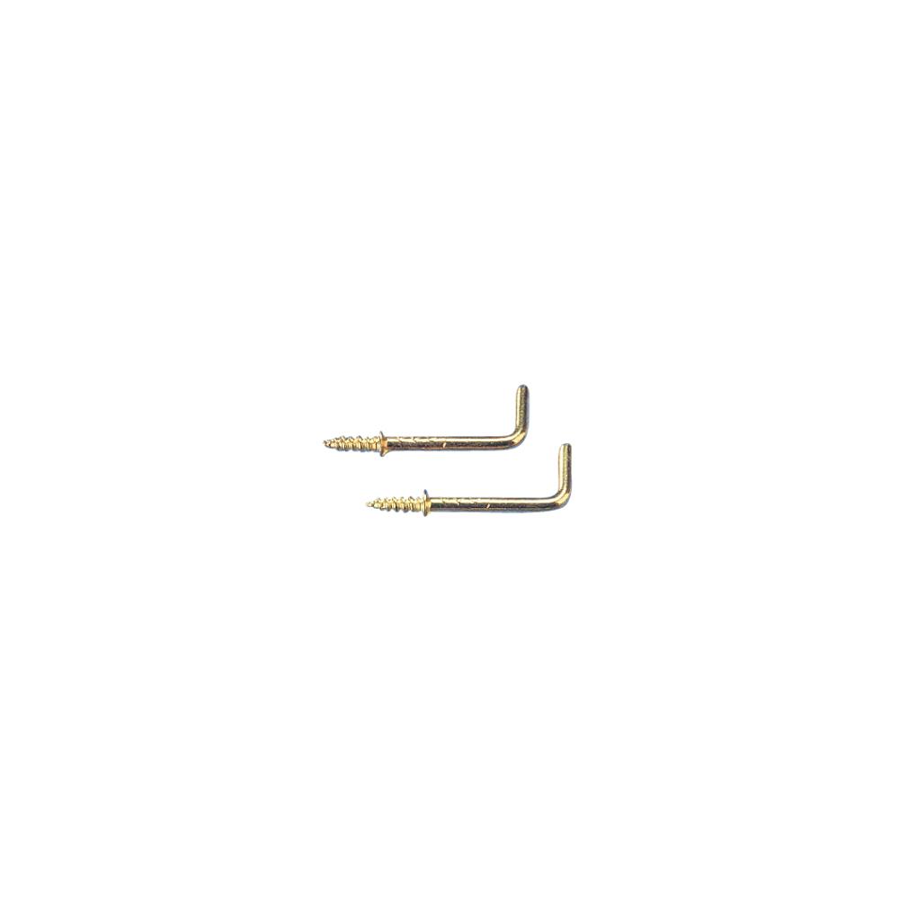 Schraubhaken, L-Form, SB-Btl. 5 Stück, 22 mm