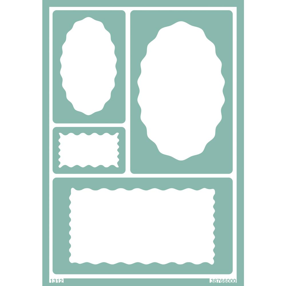 Softschablone: Wellenschilder, DIN A5, selbstklebend, SB-Btl 1Stück