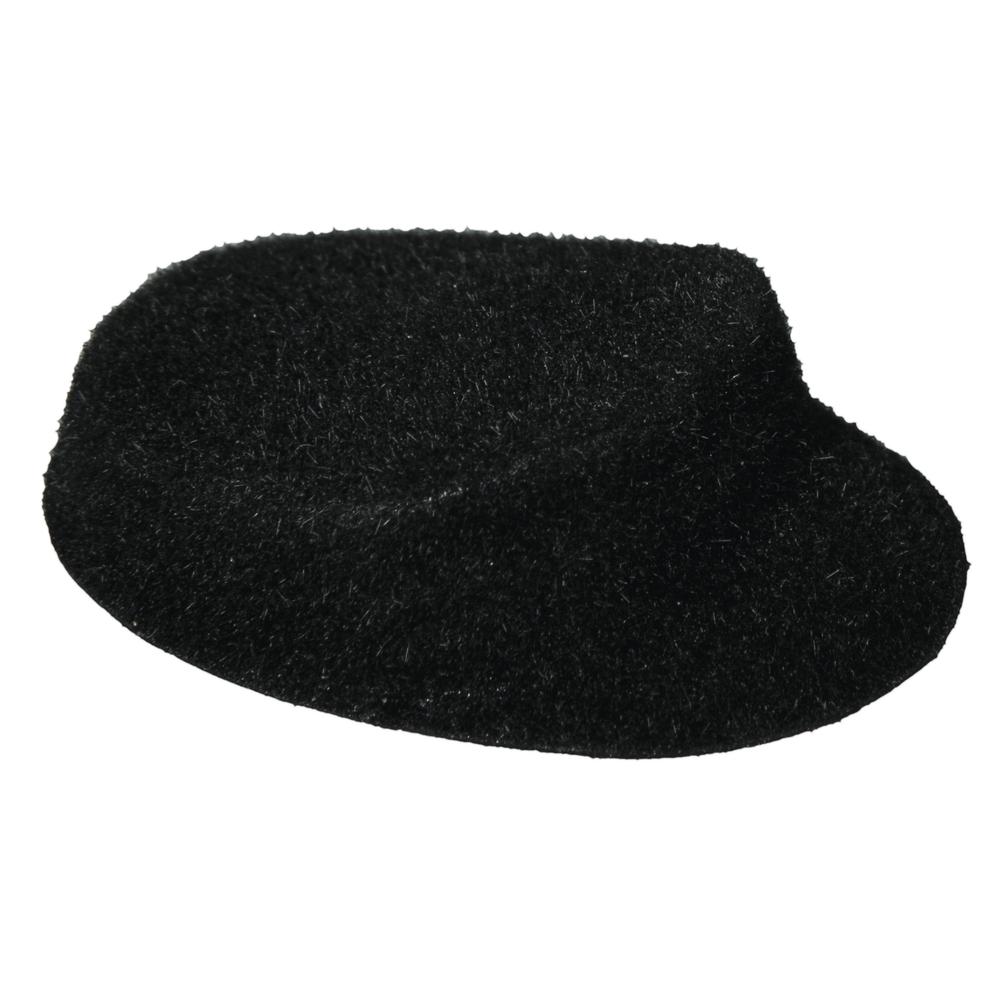 Velour-Mütze, 35cm, schwarz