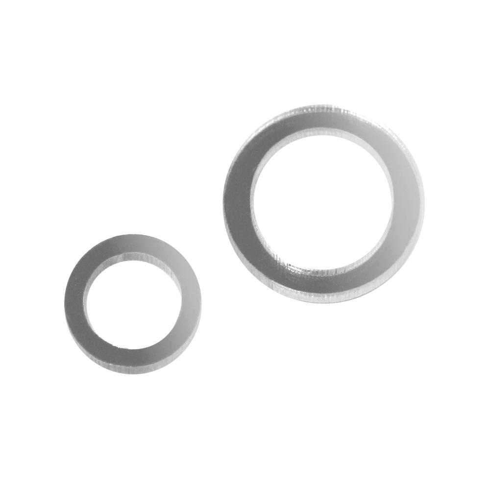Kunststoffspiegel-Streuteile, SB-Btl. 18 Stück, 2 Größen 2+3 cm, Ringe