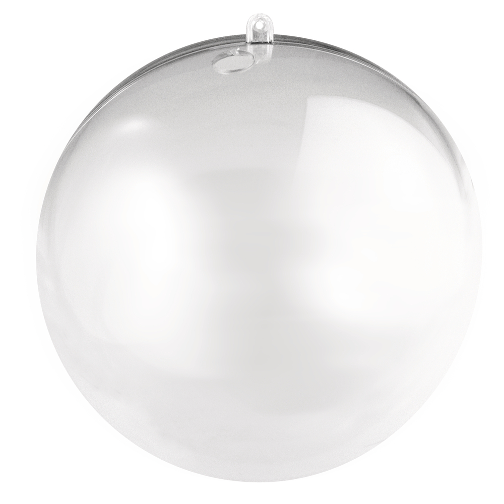 Plastik-Kugel, 2tlg., 16cm ø, kristall