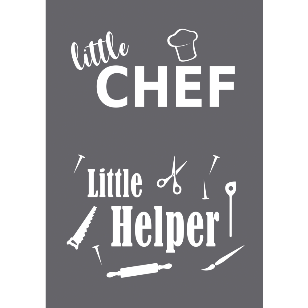 Schablone Little Chef A5, 1 Schablone+1 Rakel, SB-Btl