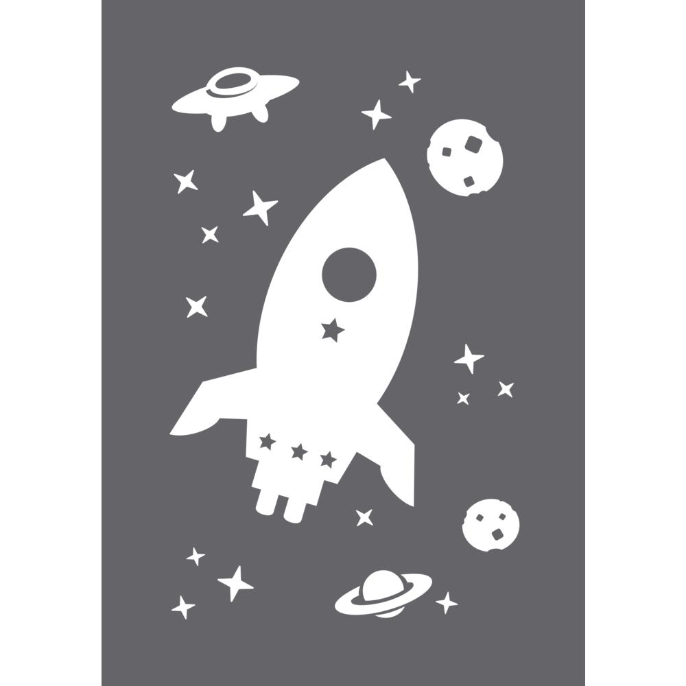 Schablone Space A5, 1 Schablone+1 Rakel, SB-Btl