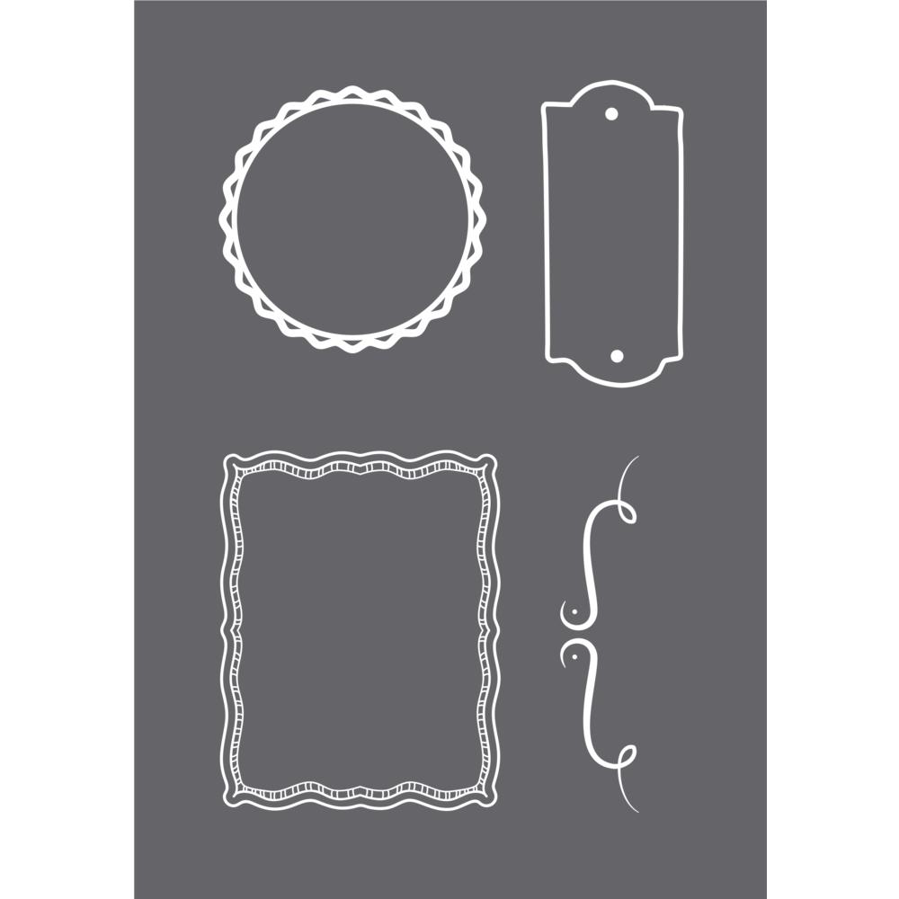 Schablone Frames A5, 1 Schablone+1 Rakel, SB-Btl