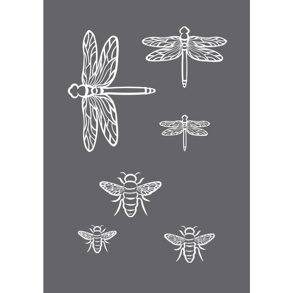 Siebdruck-Schablone Insekten A5, 1 Schablone+1 Rakel, SB-Btl