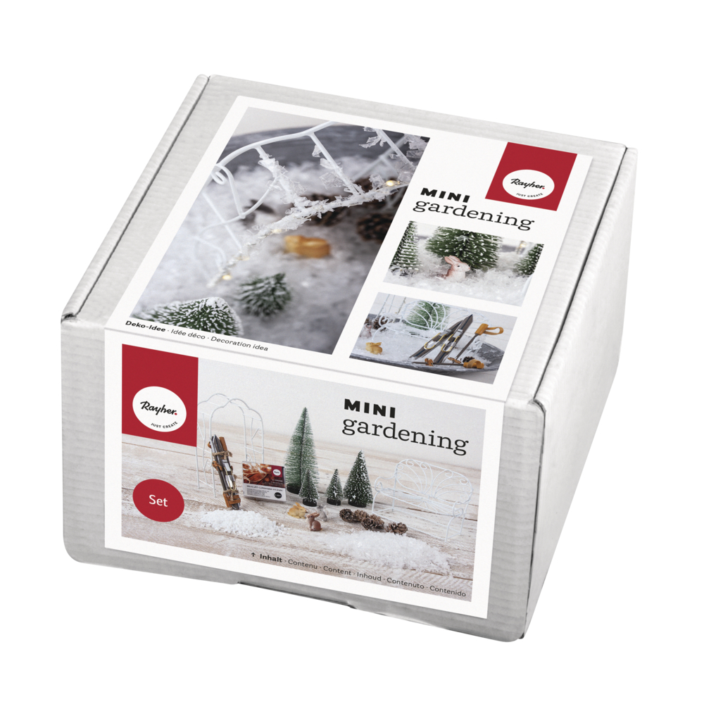 Mini-Gardening Set- Snowfeeling, 18-teilig, weiß, Karton