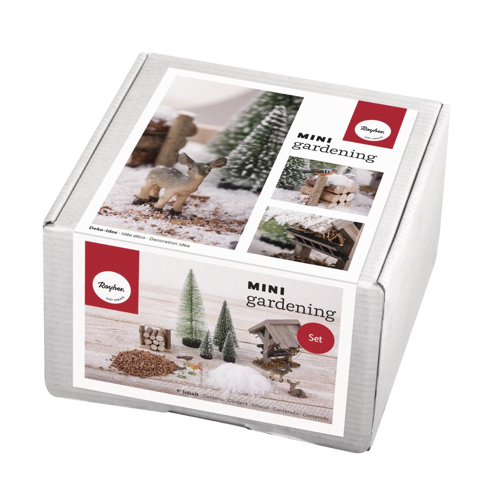 Mini-Gardening Set- Winterdream, 13-teilig, weiß, Karton