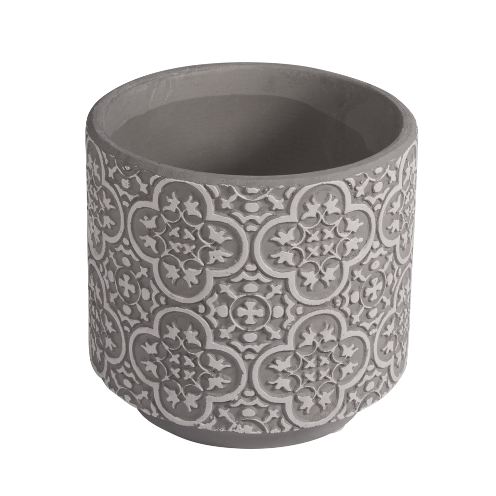 Keramik Blumentopf floral, 11cm ø, 10cm