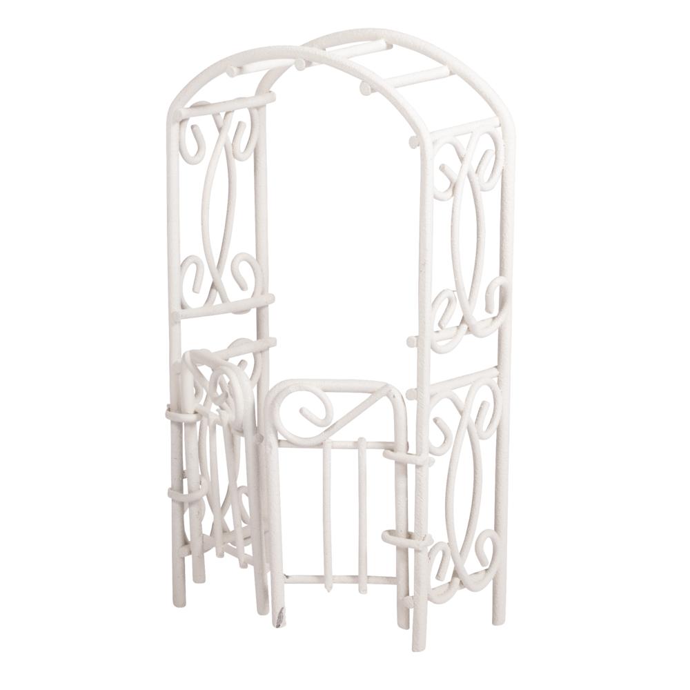 Rankbogen mit Türen, 5x10x2,5cm, SB-Btl 1Stück, weiß