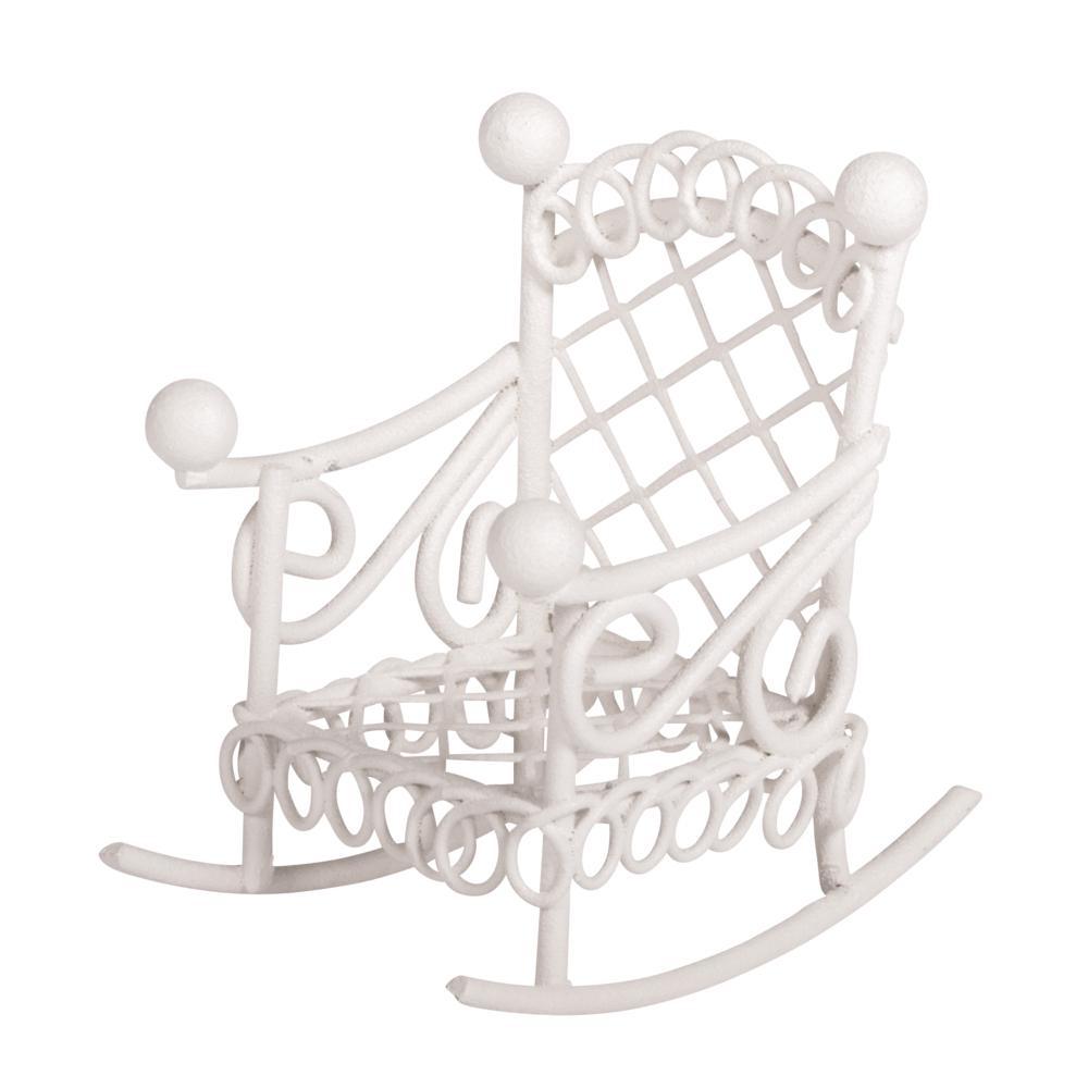 Schaukelstuhl, 2,5x4,5x4,5cm, SB-Btl 1Stück, weiß